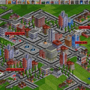 Transport Tycoon 1994 trains game