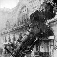 Wykolejenie na stacji Montparnasse train photos